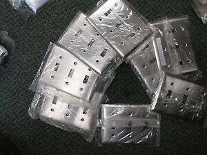 Misc Brands 3 Gang Triple Toggle Covers Ss3 Stainless Steel Lot Of 8