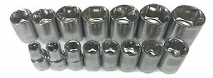 Craftsman 15pc 1 2 Sae 6pt Laser Etched Sockets Set Tools Inch Std Point Drive