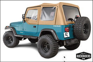 Premium Replacement Soft Top With Tinted Window 1988 1995 Jeep Wrangler Yj Spice