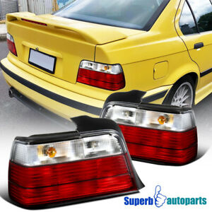 1992 1998 Bmw E36 3 series 4dr Sedan Euro Tail Lights Brake Lamp Smoke