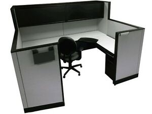 Kimball Cetra 6 x8 x68 50 Office Cubicles Workstations Refurbished Furniture