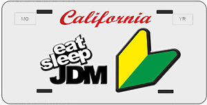 Custom California License Plate Novelty Eat Sleep Jdm Toyota Honda Hella Illest