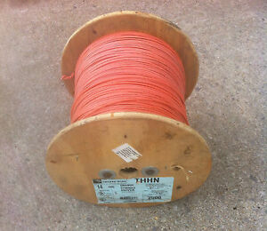 14 Awg Strd Copper Wire Orange gray green brown 2500 Roll Thhn Mtw Thhn