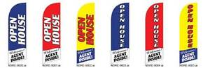 Open House Agent Inside Junior Feather Flag Banner Sign Kit