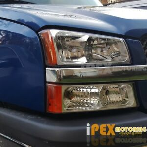 2003 2006 Chevy Silverado Factory Style 1500 2500hd Headlights W Signal Light