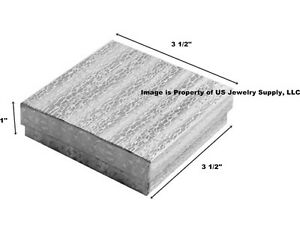 Wholesale 1000 Silver Cotton Fill Jewelry Packaging Gift Boxes 3 1 2 X 3 1 2 X 1