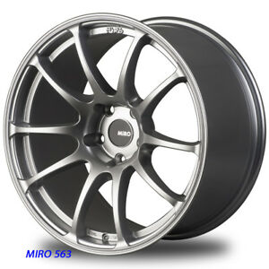 Miro 563 18 X 9 5 10 5 20 Silver Staggered Rims Wheels 94 98 99 Ford Mustang Gt
