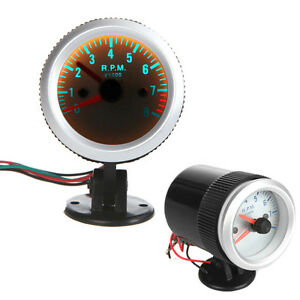 Auto Car Motor 2 52mm Tacho Tachometer Rpm Pointer Gauge Meter W Holder Cup