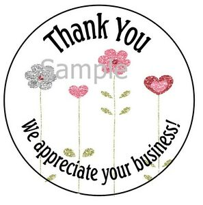 Thank You Pretty Flowers 12 1 Sticker Seal Labels