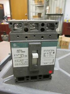 Ge Molded Case Circuit Breaker Ted134020wl 20a 480v 3p New Surplus