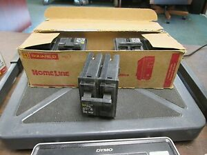 Square D Home Line Circuit Breaker Hom215 15a 120 240v 2p box Of 5 New Surplus