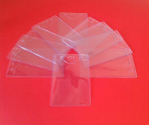 Holder Clear Lanyard Vinyl Id Vertical Pass Plastic Pouch Card Lanyards