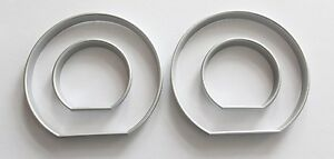 Bmw E46 3 ser High Quality Snap On Silver Satin Color Gauges Rings