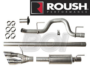 2011 2014 Ford F 150 Cat Back Roush Side Exit Exhaust System Kit 421711