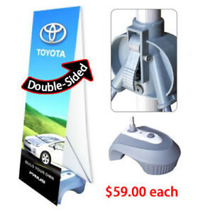 Double Sided Outdoor Adjustable X Banner Stand Water Base Trade Show Sign 10 Pcs