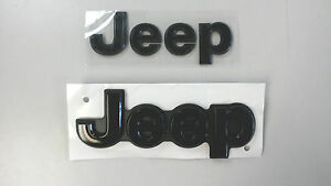 2014 2018 Jeep Grand Cherokee Blacked Out Front And Rear Jeep Emblem Set