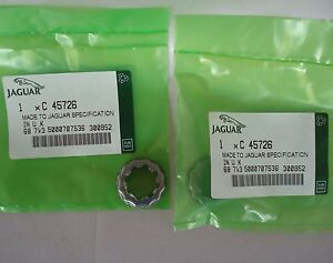 2 Jaguar Xjs Xj6 Front Wheel Hub Nut Retainer C45726