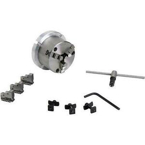3 jaw X 3 1 4 Self centering Chuck With 4 Back Plate For Rotary Tables New