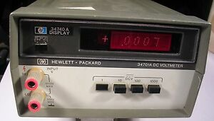 Hp Agilent 34740a W 34701a Dc Volt Meter Tested