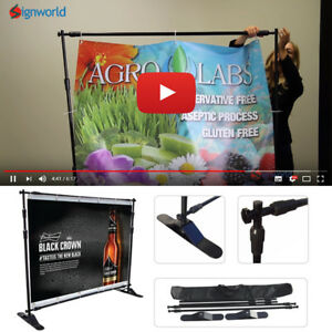 Step And Repeat Telescopic Banner Stand With 8 X 8 Fabric Print