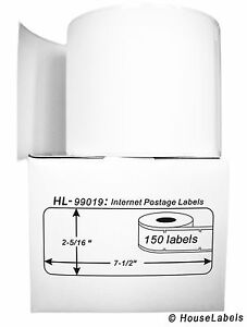 10 Rolls Of 150 1 part Ebay Paypal Postage Labels For Dymo Labelwriters 99019