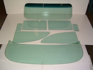 55 56 Chev 2 Door Sedan Glass Windshield Assembled Vents Doors Quarters Back Cl