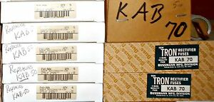 New Cooper Bussmann Buss Kab50 Fwx50 50 Amp Rectifier Fuse Specialty Tron Nos
