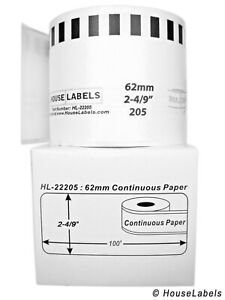 18 Rolls Of Dk 2205 Brother compatible continuous Labels bpa Free