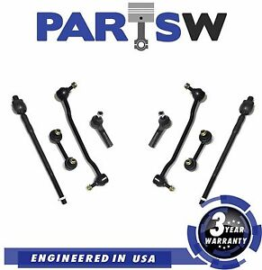 8 Pc Kit Tie Rod Ends Front Sway Bar Links For Nissan Altima Maxima 3yr Warranty