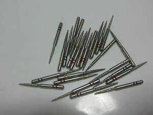 Lot Of 25 Premier Two Striper Dental Flame Diamond Burs New