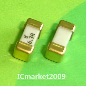 10 Pcs 6 3a 1808 Littelfuse Fast Acting Smd Fuse 6 3 Ampere Surface Mount Fuses