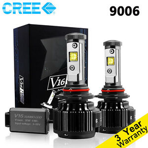 Cree 9006 Hb4 Led Headlight Bulbs Conversion Light Kit 60w 6000k White 7200lm Us