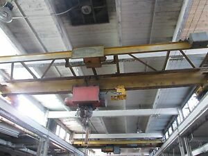 3 Overhead Bridge Cranes Complete With 150 Track And Uprights