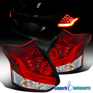 For 2012 2014 Ford Focus 5 D Hatchback Led Red Tail Lights Lamps Pair Bulbs