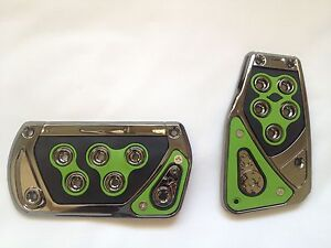 Voltage Green 2 Pc Foot Pedals Pads Covers Automatic Transmission A T