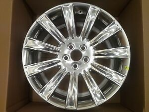 2011 2014 Lincoln Mkx 20 Polished Aluminum Wheel Oem Ba5z 1007 B