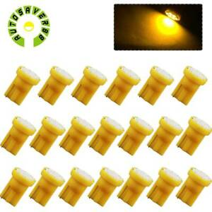 20x Yellow Amber T10 192 8 Smd Led Bulbs Instrument Panel Dash Speedometer Light