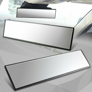 Universal 300mm Wide Flat Surface Interior Clip On Panoramic Rear View Mirror