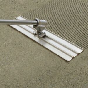 Kraft Tool Multi trac Bull Float Concrete Groover 48 X 2 1 4 Spacing W bracket
