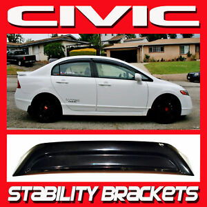 2010 Honda Civic 4 Door Sedan Rear Roof Windshield Visor Spoiler With Brackets