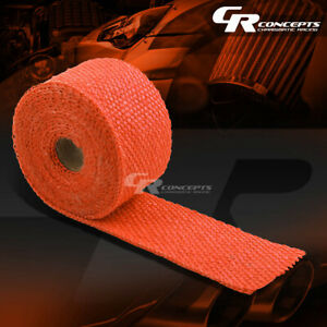 15ft 180 L 2 W Exhaust Header Turbo Manifold Pipe Orange Heat Shield Wrap Tape