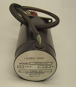 Lin Engineering Stepping Motor Stepper 5618c 03 6 Vdc 1 8a 13095 22 Amat