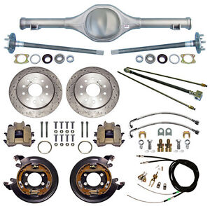 Currie 82 97 S 10 Blazer Rear End Drilled Disc Brakes lines e Cables axles