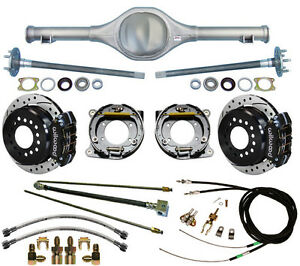 Currie 82 97 S 10 Blazer Rear End Wilwood Drilled Disc Brakes Black Calipers