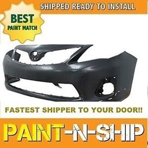 Fits 2011 2012 2013 Toyota Corolla S Front Bumper Painted To1000373