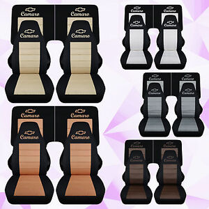 Fits 1982 1992 Chevrolet Camaro Front 4 Piece Rear Car Seat Covers Color Choice