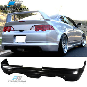 For 02 04 Acura Rsx 2dr Mug Style Rear Bumper Lip Spoiler Bodykit Unrethane