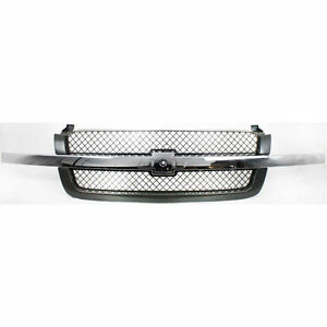 Chevy Silverado Pickup 1500 Avalanche Truck 03 07 Front Grille Chrome Black New