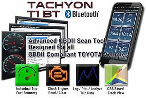 Toyota Obd2 Obdii Bluetooth Scan Tool Ecu Abs Srs Emps tachyon T1 2 0 Software