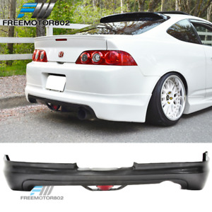 For 05 06 Acura Rsx Dc5 Coupe 2dr Mugen Style Rear Bumper Lip Pu With Led Light